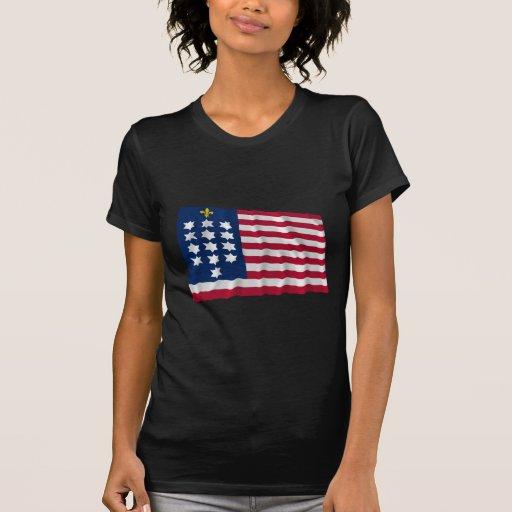 Francés Alliance que agita la bandera Camiseta