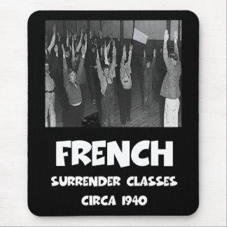 Francés anti divertido mouse pads