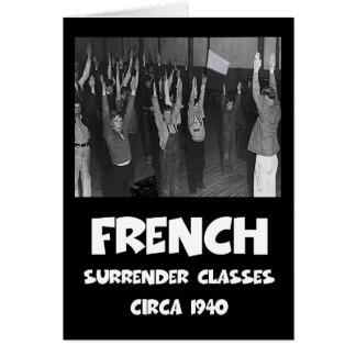 Francés anti divertido tarjeta de felicitación