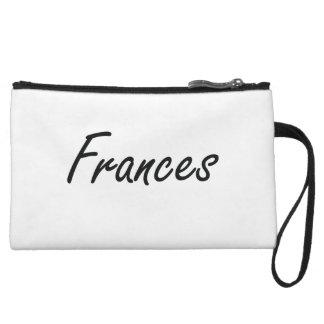 Frances artistic Name Design Wristlet Clutches
