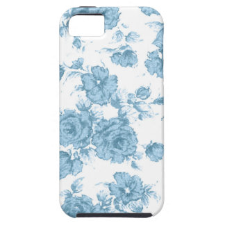 Francés azul lamentable Toile iPhone 5 Protectores