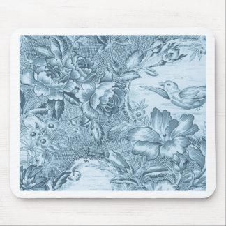 Francés azul lamentable Toile Mouse Pads