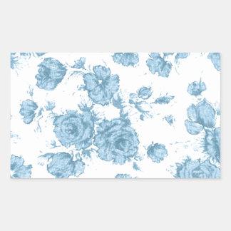 Francés azul lamentable Toile Pegatina Rectangular
