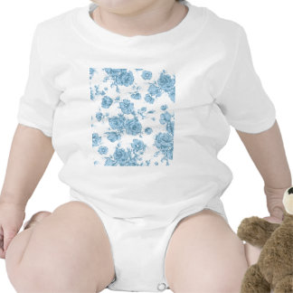 Francés azul lamentable Toile Traje De Bebé