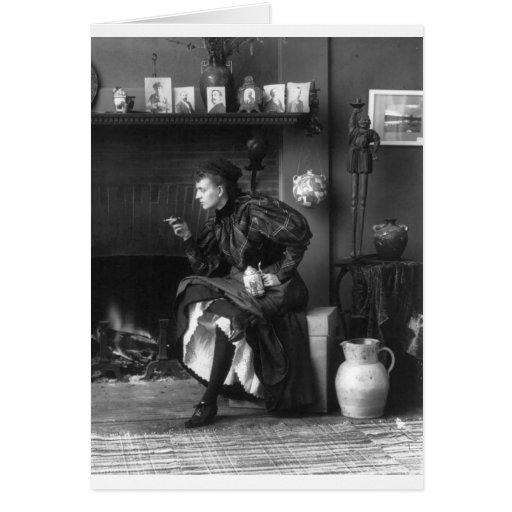 Frances Benjamin Johnston, 1896 Tarjeta De Felicitación