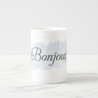 Francés Bonjour Taza De Porcelana
