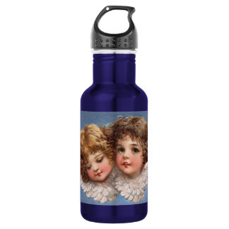 Frances Brundage: Angel Couple 1 18oz Water Bottle