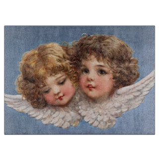 Frances Brundage: Angel Couple 1 Cutting Board