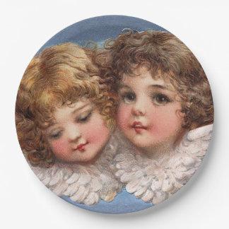 Frances Brundage: Angel Couple 1 Paper Plate