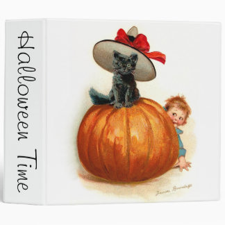 Frances Brundage: Black Cat, Pumpkin and a Boy Binder