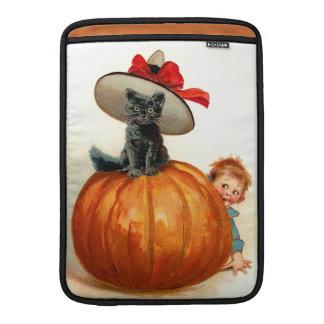 Frances Brundage: Black Cat, Pumpkin and a Boy MacBook Sleeve