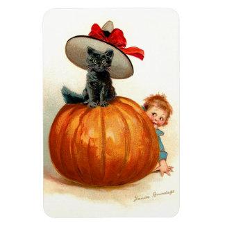 Frances Brundage: Black Cat, Pumpkin and a Boy Magnet