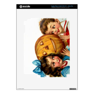 Frances Brundage Boy and Girl with Jack O Lantern Decal For iPad 3