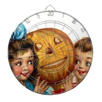 Frances Brundage: Boy and Girl with Jack O`Lantern