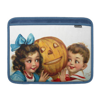 Frances Brundage: Boy and Girl with Jack O'Lantern Sleeves For MacBook Air