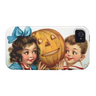 Frances Brundage: Boy and Girl with Jack O'Lantern iPhone 4/4S Covers