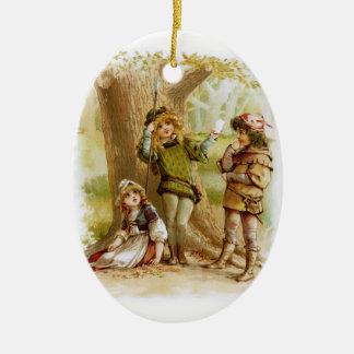 Frances Brundage: Celia, Rosalind, and Orlando Ceramic Ornament