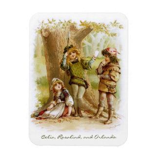Frances Brundage: Celia, Rosalind, and Orlando Rectangular Photo Magnet
