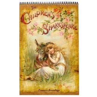 Frances Brundage: El Shakespeare de los niños Calendario