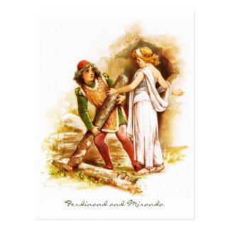 Frances Brundage: Ferdinand and Miranda Postcard