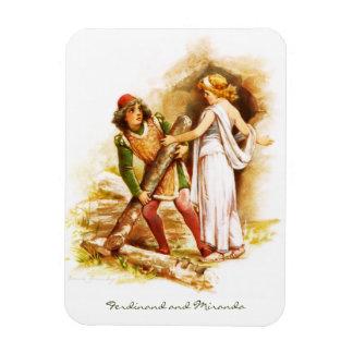 Frances Brundage: Ferdinand and Miranda Rectangular Photo Magnet