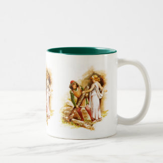 Frances Brundage: Ferdinand and Miranda Two-Tone Coffee Mug