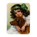 Frances Brundage: Girl with Dog Flexible Magnets