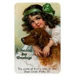 Frances Brundage: Girl with Dog Rectangular Photo Magnet