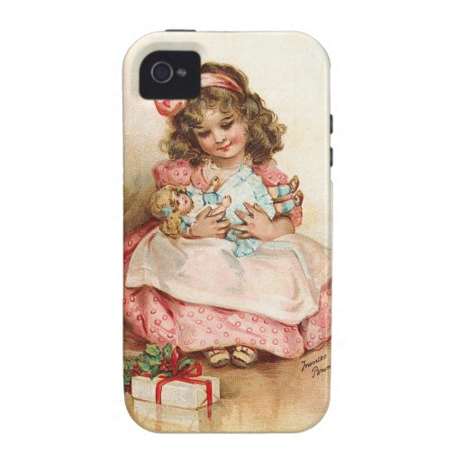 Frances Brundage - Girl with Doll iPhone 4 Cover