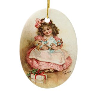 Frances Brundage - Girl with Doll ornament