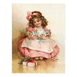 Frances Brundage - Girl with Doll Post Card
