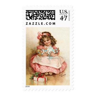Frances Brundage - Girl with Doll Postage
