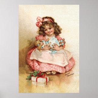 Frances Brundage - Girl with Doll Poster