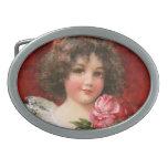 Frances Brundage: Girl with Roses Belt Buckle
