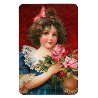 Frances Brundage: Girl with Roses Magnet
