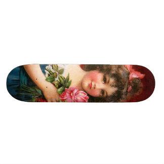 Frances Brundage: Girl with Roses Skateboard