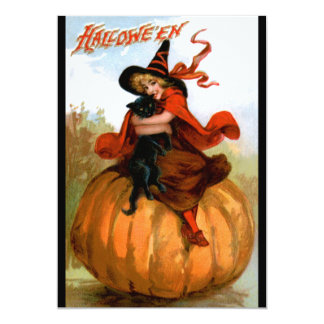 Frances Brundage: Halloween Witch 5x7 Paper Invitation Card