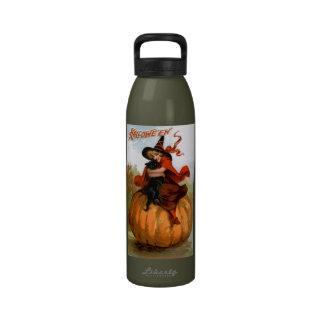 Frances Brundage: Halloween Witch Drinking Bottles