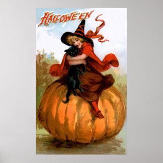 Frances Brundage: Halloween Witch Poster