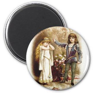 Frances Brundage: Hamlet and Ophelia 2 Inch Round Magnet