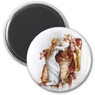 Frances Brundage: King Lear and Cordelia 2 Inch Round Magnet