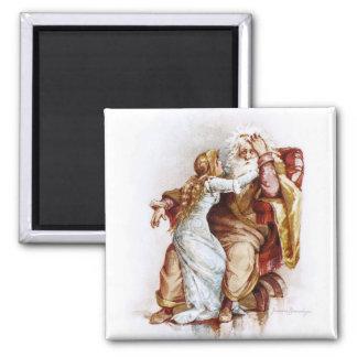 Frances Brundage: King Lear and Cordelia 2 Inch Square Magnet