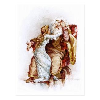 Frances Brundage: King Lear and Cordelia Postcard