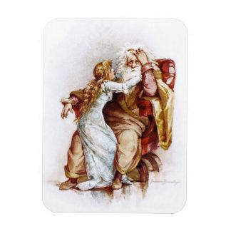 Frances Brundage: King Lear and Cordelia Rectangular Photo Magnet