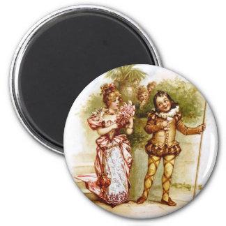 Frances Brundage: Olivia and Malvalio 2 Inch Round Magnet