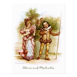 Frances Brundage: Olivia and Malvalio Postcard