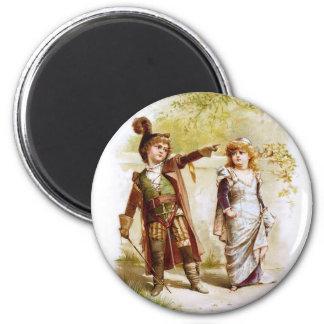 Frances Brundage: Petruchio and Katharina 2 Inch Round Magnet
