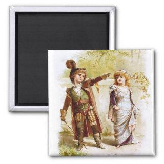 Frances Brundage: Petruchio and Katharina 2 Inch Square Magnet