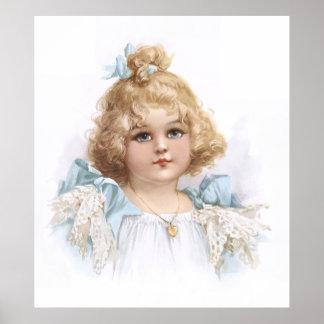 Frances Brundage - Portrait of a Young Girl Poster