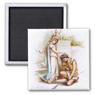 Frances Brundage: Princess Thaisa and Pericles 2 Inch Square Magnet